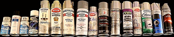 testing 16 different types of metallic spray paints all of which. Black Bedroom Furniture Sets. Home Design Ideas