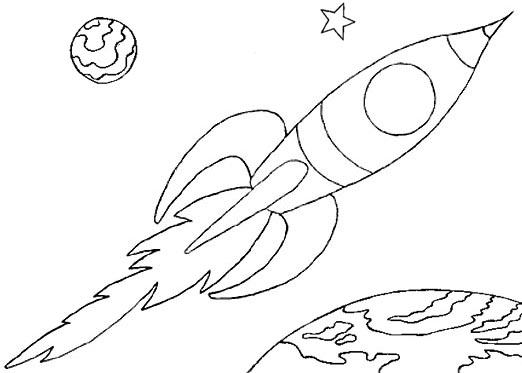 Wayne schmidt 39 s free space ship coloring page for Rocket coloring page